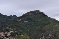 View of the mountains around Taormina, Sicily, Italy
