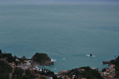 View of Mazzaro from Taormina, Sicily, Italy