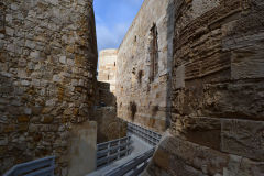 Views inside the Ortygia Castle in Syracuse, Sicily, Italy
