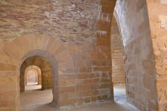 Views inside the ancient Ortygia Castle in Syracuse, Sicily, Italy