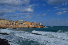 Views of Syracuse on Ortygia, Sicily, Italy