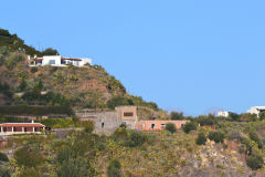 A view of Lipari Island, one of the Aeolian Islands in the Tyrrhenian Sea, Italy