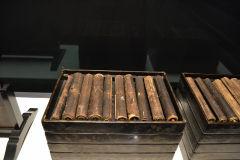 Old scrolls inside the Tokyo Museum, Tokyo, Japan