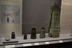Ancient bells inside the Tokyo Museum, Tokyo, Japan