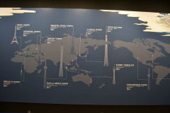 Comparision of different towsers in the world, Tokyo Sky Tree, Tokyo, Japan