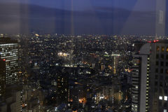 Tokyo in the dark in Tokyo, Japan