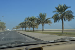 Landscape at the Arabian Sea in the United Arab Emirates