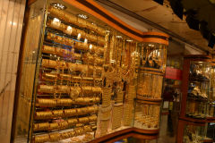 Gold at the Gold Market (Souk) in Dubai, United Arab Emirates