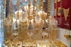 Gold at the Gold Market (Souk) in Dubai, United Arab Emirates