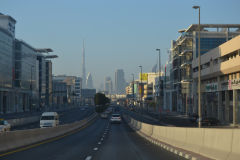 View of Dubai during leaving the town in direction of Rub al-Chali, United Arab Emirates