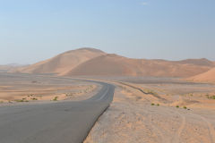 Landscape in the Rub al-Chali near the border of Oman in the United Arab Emirates