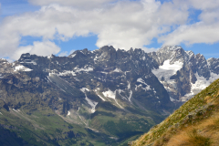 Italian Alps scenery on a hike to the Mount Falinere near Buisson, Italy