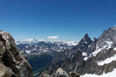 Italian Alps as seen from a Mont Blanc galcier in Italy