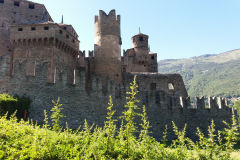 Fenris Castle in the Aosta Valley, Italy