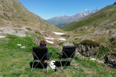 Lunch in the Alps near the Great St Bernard Pass. Switzerland