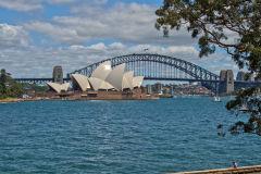 Opera House and Harbour Bridge taken from the Botanical Garden in Sydney, Australia