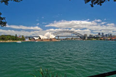 Opera House and Harbour Bridge taken from the Botanical Garden in Sydney, Australia