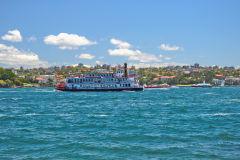 A boat on Sydney Cove, Sydney, Australia