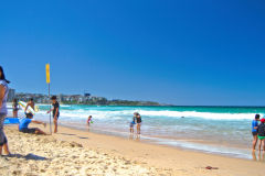Beach scene at Manly Beach, Sydney, Australia