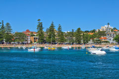 Beach scene at Manly Wharf, Sydney, Australia