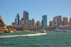 Sydney CBD taken from a ferry, Sydney, Australia