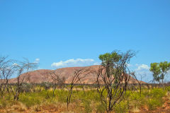 Landscape in the Outback between Coral Bay and Tom Price in Western Australia