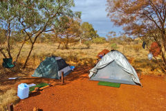Campsite at the Karijini Eco Retreat, Western Australia