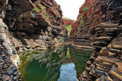 Kermit Pool at the Hancock Gorge in the Karijini National Park, Western Australia