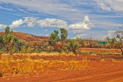 Outback landscape between Karajini National Park and Newman, Western Australia