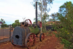 Old mining equipment in Newman, Western Australia