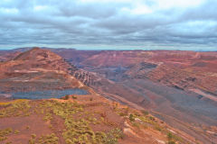 At BHP Billiton Mount Whaleback iron ore mine in Newman, Western Australia