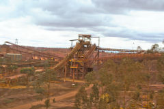 At BHP Billiton Mount Whaleback iron ore mine in Newman, Western Australia