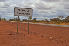The Tropic of Capricorn on the road between Newman and Meekatharra