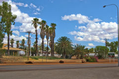 View of the town of Meekatharra in Western Australia