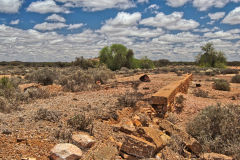 The ruins of Lennonville near Mount Magnet in the Outback of Western Australia