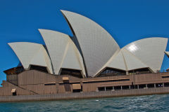 Sydney Opera House taken from a ferry in Sydney, Australia