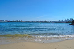 Sydney CBD taken from Whiting Beach in Sydney, Australia