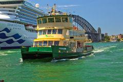 A ferry at Circular Quay, Sydney, Australia