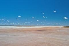 View of Lake Ballard and Inside Australia art in Western Australia