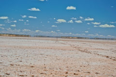 View of Lake Ballard and Inside Australia art in Western Australia