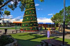 Christmas tree in the town of Kalgoorlie in Western Australia