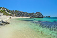 Beach scene at Little Parakeet Bay, Western Australia