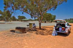 A rest stop near Shark Bay in Western Australia