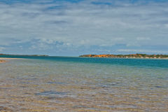Beach scene at Big Lagoon, Shark Bay, Western Australia