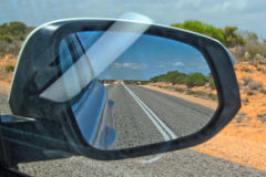 Empty road in the Outback at Shark Bay, Western Australia
