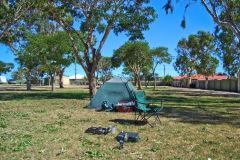 Nealy empty campsite in Carnarvon, Western Australia