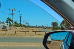 Empty roads in Carnarvon, Western Australia