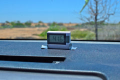 42 °C in the car in Carnarvon, Western Australia