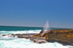 Quobba Blow Holes north of Carnarvon, Western Australia