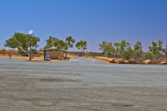 Rest area at the Minilya Bridge Roadhouse north of Carnarvon, Western Australia
